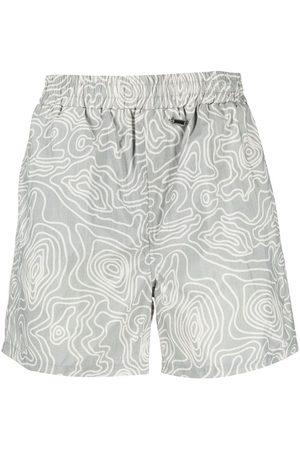 032c Men Swim Shorts - Abstract-print swim shorts