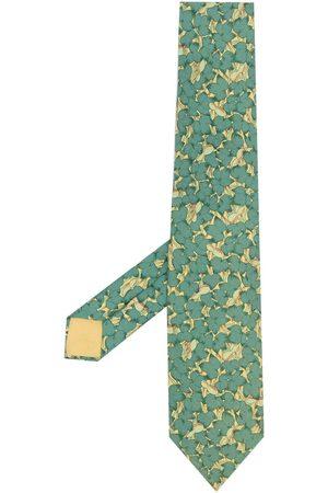 Hermès 2000s pre-owned floral print silk necktie