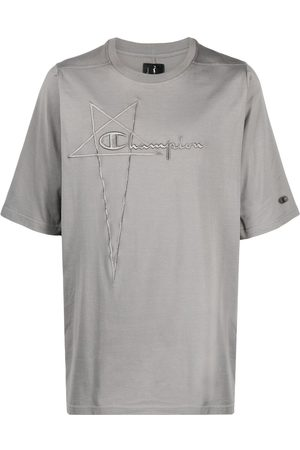 Rick Owens Logo-embroidered T-shirt