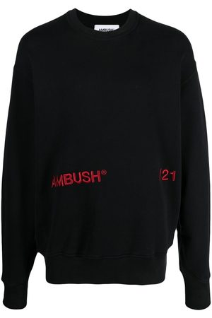AMBUSH Men Sweatshirts - Logo-print long-sleeve sweatshirt