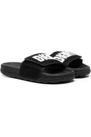 DKNY Boys Sandals - Logo print touch-strap sliders