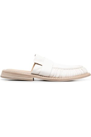 MARSÈLL Estiva ruched leather slippers