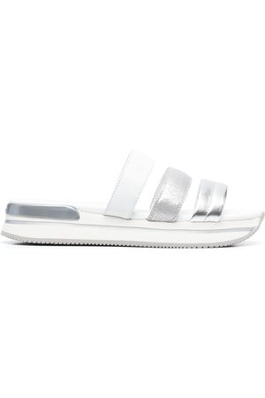 Hogan Metallic-strap sandals