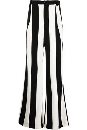 DUOltd Vertical-stripe wool trousers