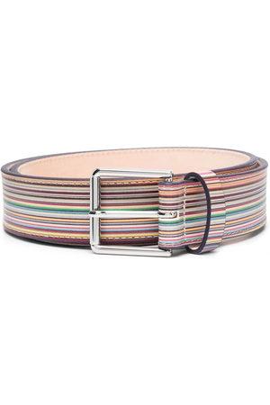 Paul Smith Men Belts - Striped buckle belt