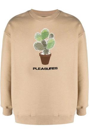 Pleasures Spike embroidery rib-trimmed sweatshirt