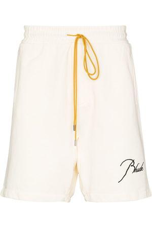 Rhude Men Sports Shorts - Logo-embroidered track shorts