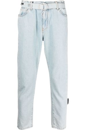 OFF-WHITE Belted cropped jeans