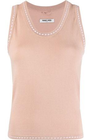 MAX & MOI Women Vests - Knitted V-neck vest top