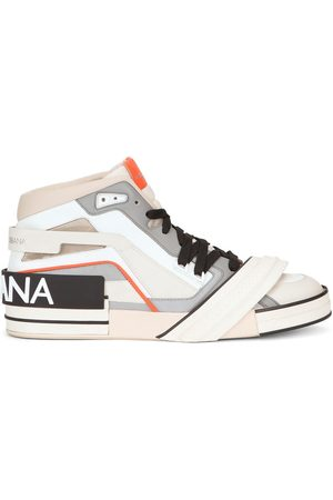 Dolce & Gabbana Logo-patch panelled high-top sneakers