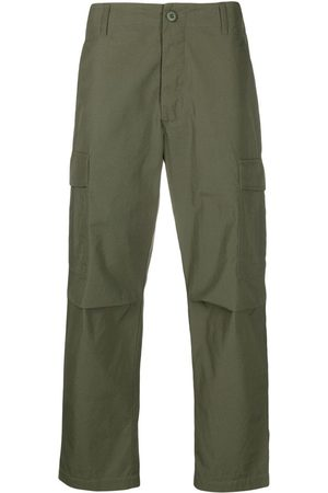 Maharishi Men Trousers - Logo-embellished military-style trousers