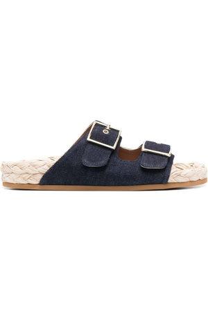 L'Autre Chose Women Platform Sandals - Denim espadrille sandals