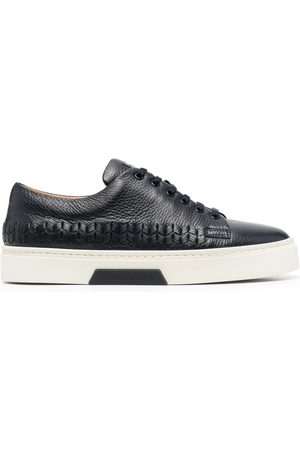 Armani Pebble-leather low-top sneakers