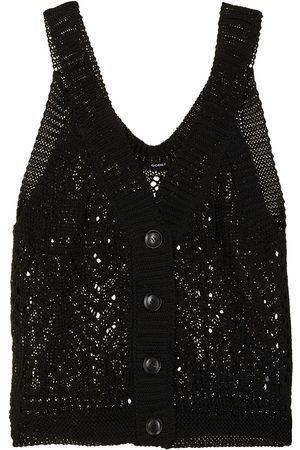 GOEN.J Women Vests - Buttoned crochet-knit vest