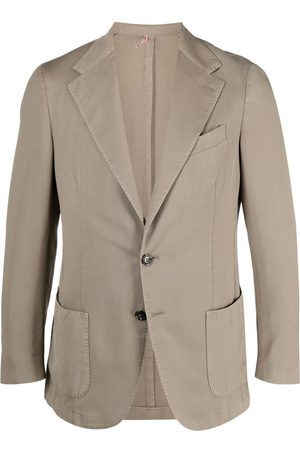 DELL'OGLIO Fitted single-breasted blazer