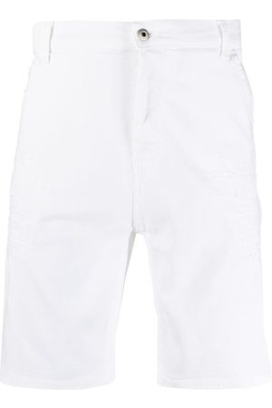 Dondup Distressed-effect cotton shorts