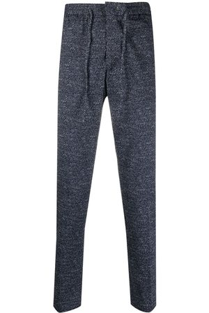 Manuel Ritz Men Slim Trousers - Slim-fit marl track pants