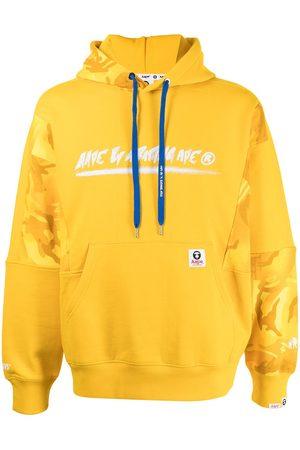 AAPE BY A BATHING APE Men Hoodies - Panelled logo-print hoodie