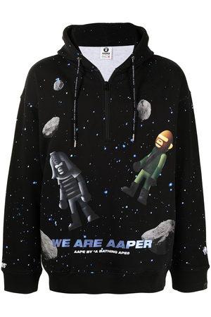 AAPE BY A BATHING APE Space print hoodie