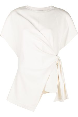 GOEN.J Women Short Sleeve - French-sleeve knotted-detail top