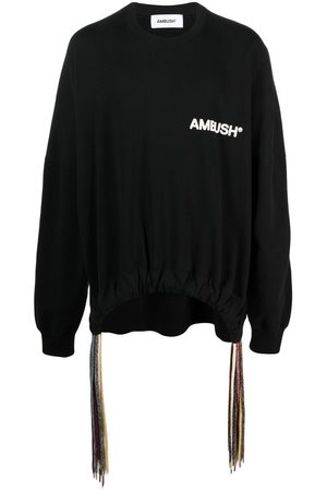 AMBUSH Men Sweatshirts - Drawstring-hem logo sweatshirt