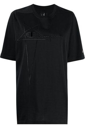 Rick Owens Women Short Sleeve - Logo-print short-sleeved T-shirt