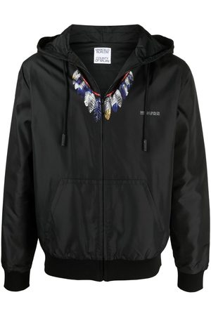 MARCELO BURLON Feather-print hooded jacket