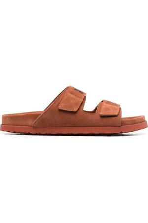 Palm Angels Men Sandals - Logo print suede sandals