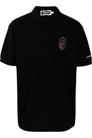 A Bathing Ape Embellished-logo polo shirt