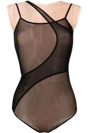LOULOU Women Bodies - Panelled mesh bodysuit