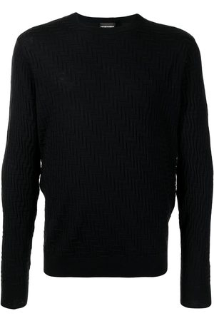 Emporio Armani Chevron-knit virgin-wool jumper