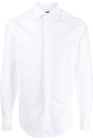 Emporio Armani Spread-collar cotton shirt