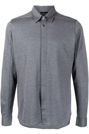 Emporio Armani Pointed-collar cotton shirt