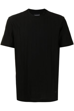 Emporio Armani Men Short Sleeve - Logo-print ribbed T-Shirt