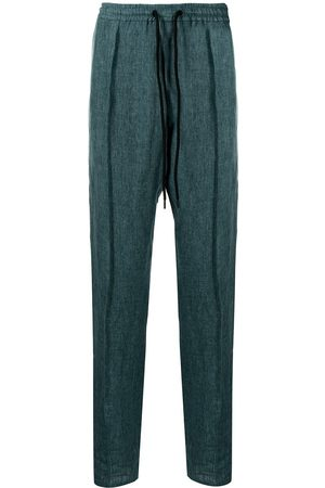 Emporio Armani Men Trousers - Drawstring linen trousers