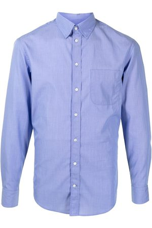 Emporio Armani Men Long Sleeve - Pointed-collar cotton shirt