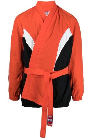 MARTINE ROSE Colour-block shell wrap jacket