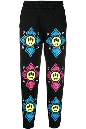BARROW Trousers - Graphic-print mid-rise track pants