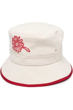RED Valentino Women Hats - Embroidered floral bucket hat