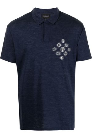 Armani Graphic-print short-sleeved polo shirt