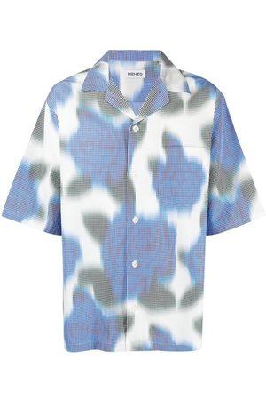 Kenzo Pixelated floral-print shirt