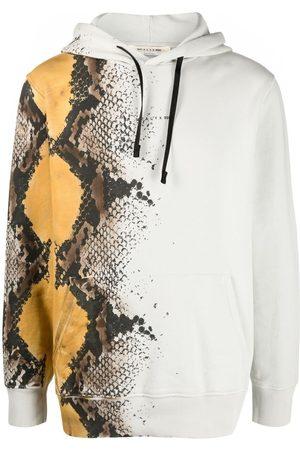1017 ALYX 9SM Men Hoodies - Snakeskin-print cotton hoodie