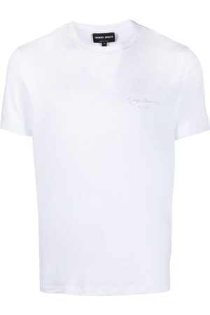 Armani Men Short Sleeve - Logo-print short-sleeved T-shirt
