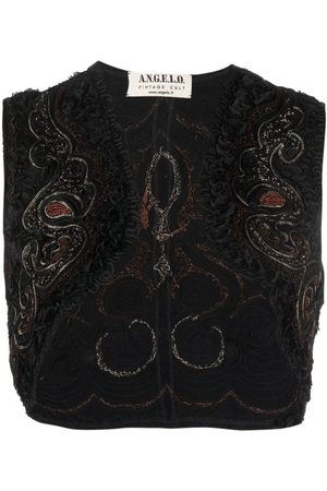 A.N.G.E.L.O. Vintage Cult Women Boleros - 1990s embroidered sleeveless bolero