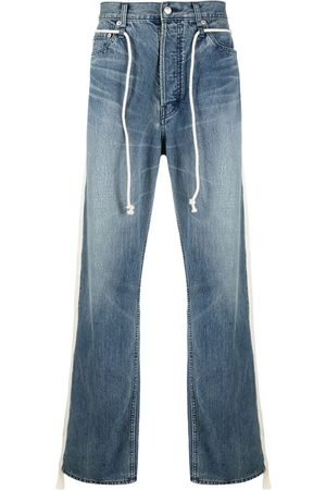 AMBUSH Stripe appliqué drawstring jeans