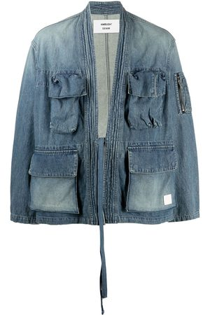 AMBUSH Men Denim Jackets - Belted denim jacket