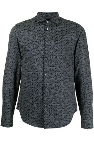 Emporio Armani Men Long Sleeve - Logo-print classic shirt