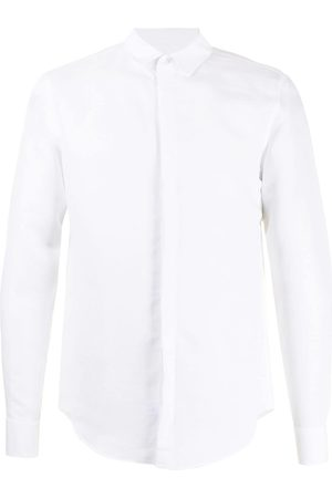 Emporio Armani Men Long Sleeve - Classic linen-blend shirt