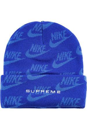 Supreme X Nike jacquard logos beanie