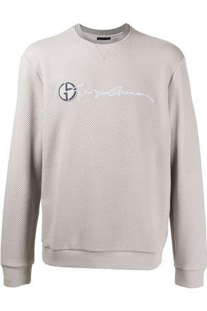 Armani Men Sweatshirts - Logo-print round neck sweatshirt